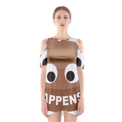 Poo Happens Shoulder Cutout One Piece