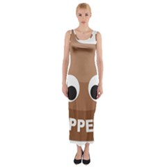 Poo Happens Fitted Maxi Dress