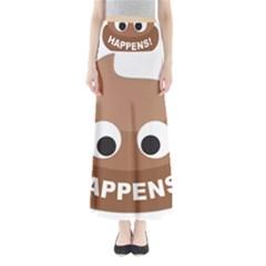 Poo Happens Full Length Maxi Skirt