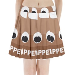 Poo Happens Pleated Mini Skirt