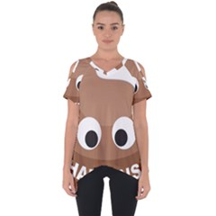 Poo Happens Cut Out Side Drop Tee
