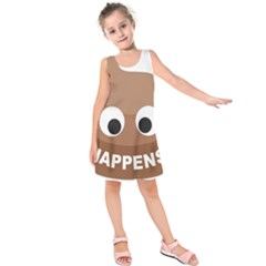 Poo Happens Kids  Sleeveless Dress