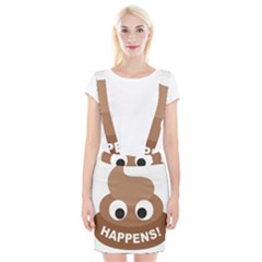Poo Happens Braces Suspender Skirt