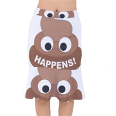Poo Happens Mermaid Skirt