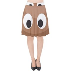 Poo Happens Velvet High Waist Skirt