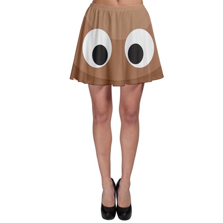 Poo Happens Skater Skirt