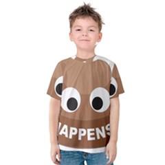 Poo Happens Kids  Cotton Tee
