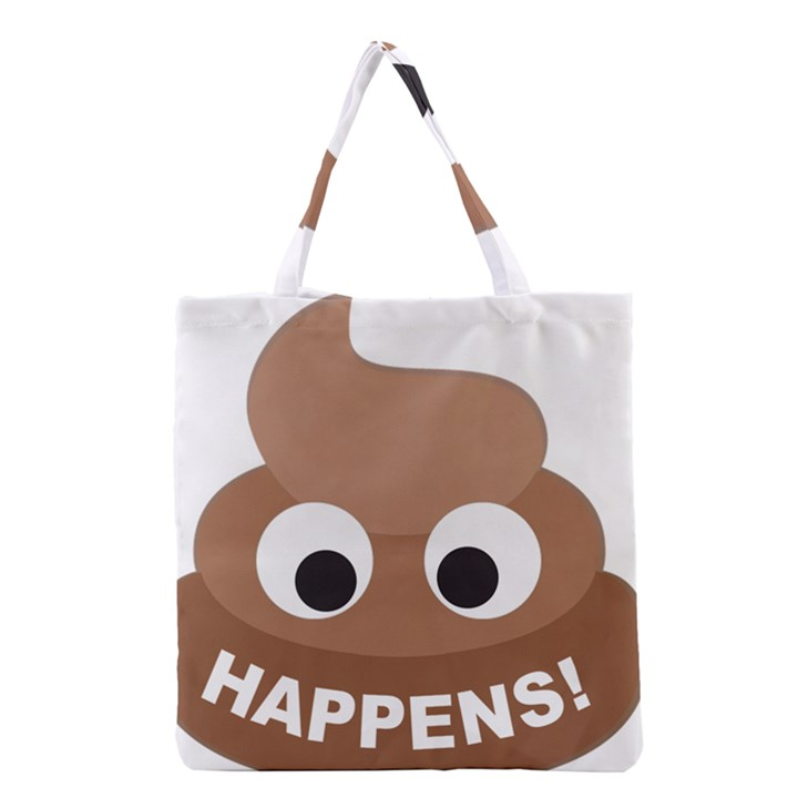 Poo Happens Grocery Tote Bag