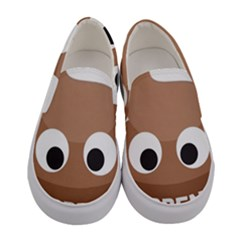 Poo Happens Women s Canvas Slip Ons