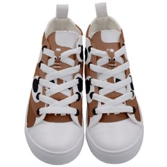 Poo Happens Kid s Mid Top Canvas Sneakers