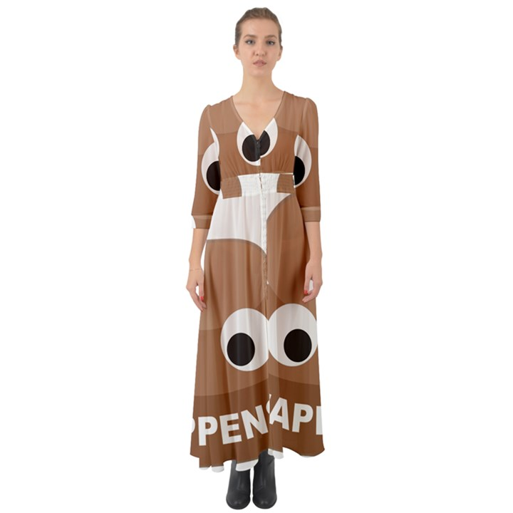Poo Happens Button Up Boho Maxi Dress