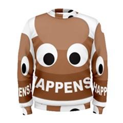 Poo Happens Men s Sweatshirt