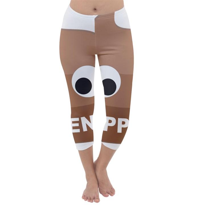Poo Happens Capri Winter Leggings