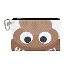 Poo Happens Canvas Cosmetic Bag (medium)