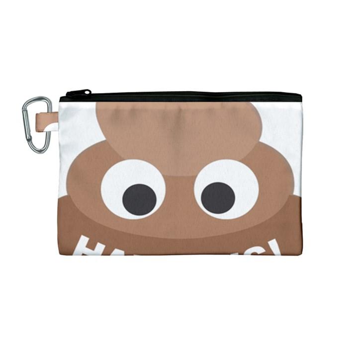 Poo Happens Canvas Cosmetic Bag (Medium)