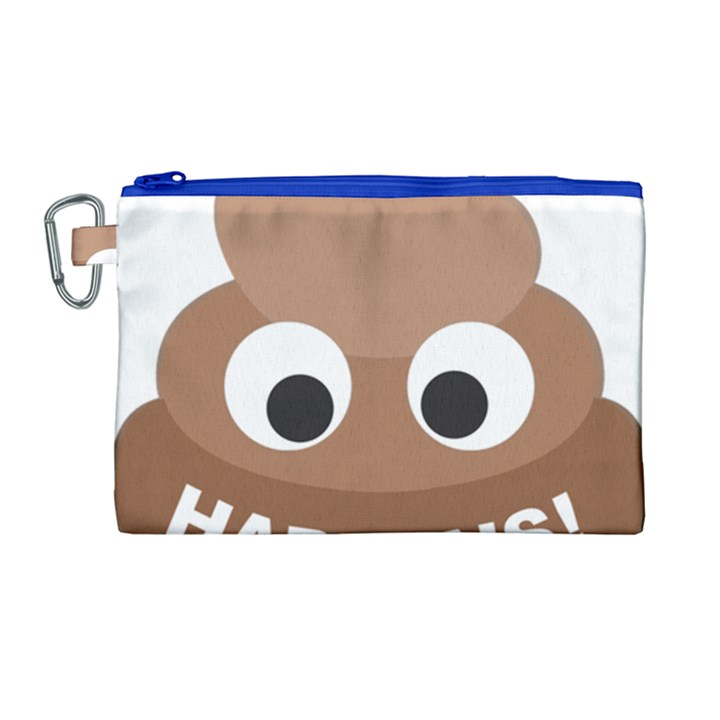 Poo Happens Canvas Cosmetic Bag (Large)