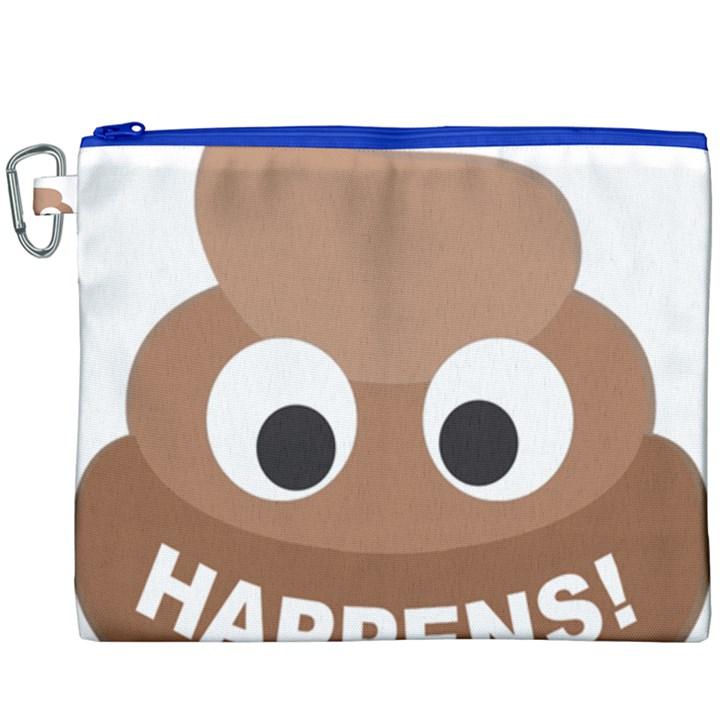 Poo Happens Canvas Cosmetic Bag (XXXL)