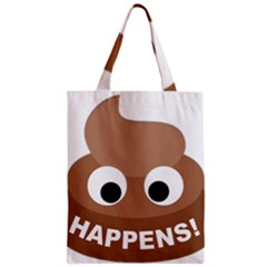 Poo Happens Zipper Classic Tote Bag