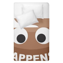 Poo Happens Duvet Cover Double Side (single Size)