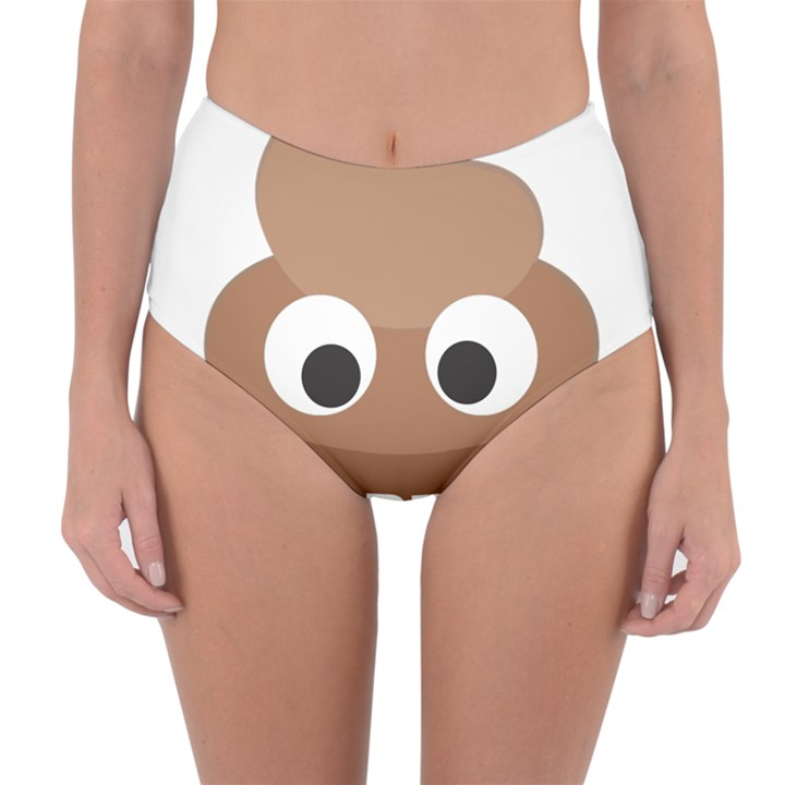 Poo Happens Reversible High-Waist Bikini Bottoms