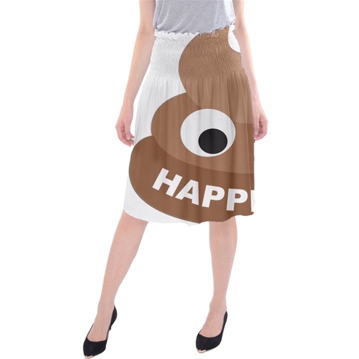 Poo Happens Midi Beach Skirt