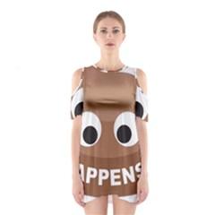 Poo Happens Shoulder Cutout One Piece