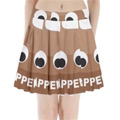 Poo Happens Pleated Mini Skirt