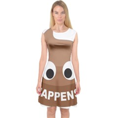 Poo Happens Capsleeve Midi Dress