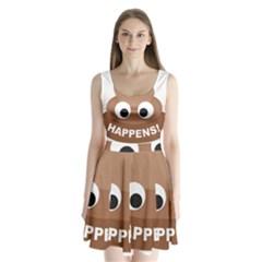 Poo Happens Split Back Mini Dress