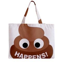 Poo Happens Zipper Medium Tote Bag