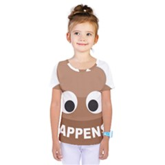 Poo Happens Kids  One Piece Tee