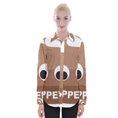 Poo Happens Womens Long Sleeve Shirt