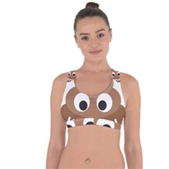 Poo Happens Cross String Back Sports Bra