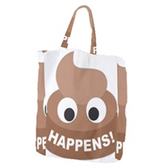 Poo Happens Giant Grocery Zipper Tote