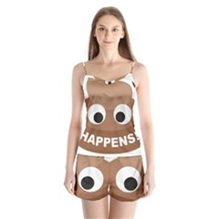 Poo Happens Satin Pajamas Set