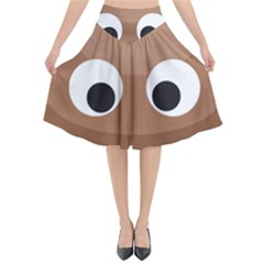 Poo Happens Flared Midi Skirt
