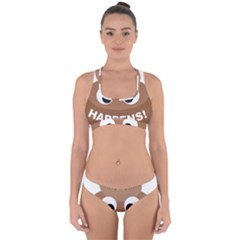 Poo Happens Cross Back Hipster Bikini Set