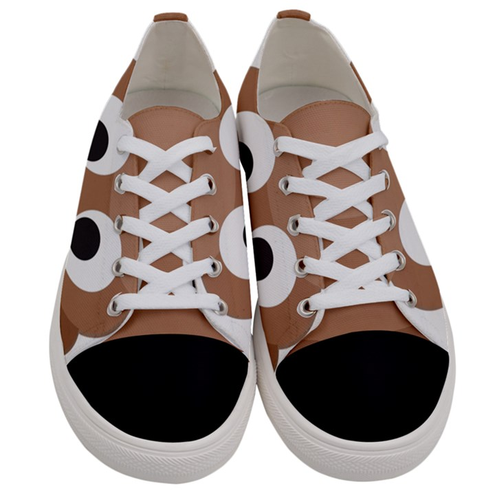 Poo Happens Women s Low Top Canvas Sneakers