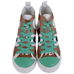 Poo Happens Women s Mid Top Canvas Sneakers