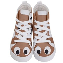 Poo Happens Kid s Hi Top Skate Sneakers