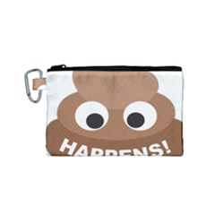 Poo Happens Canvas Cosmetic Bag (small)