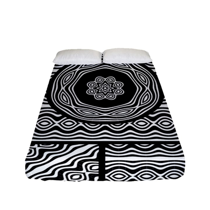 Wavy Panels Fitted Sheet (Full/ Double Size)