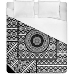 Wavy Panels Duvet Cover (california King Size)