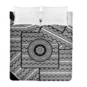 Wavy Panels Duvet Cover Double Side (Full/ Double Size) View1