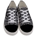 Wavy Panels Women s Low Top Canvas Sneakers View1