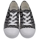 Wavy Panels Kids  Low Top Canvas Sneakers View1