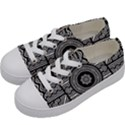Wavy Panels Kids  Low Top Canvas Sneakers View2