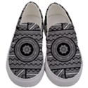 Wavy Panels Men s Canvas Slip Ons View1