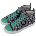 Wavy Panels Women s Mid-Top Canvas Sneakers View2
