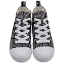 Wavy Panels Kid s Mid-Top Canvas Sneakers View1